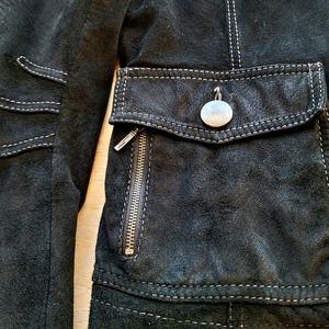 Danier Suede Leather Jacket Size Small